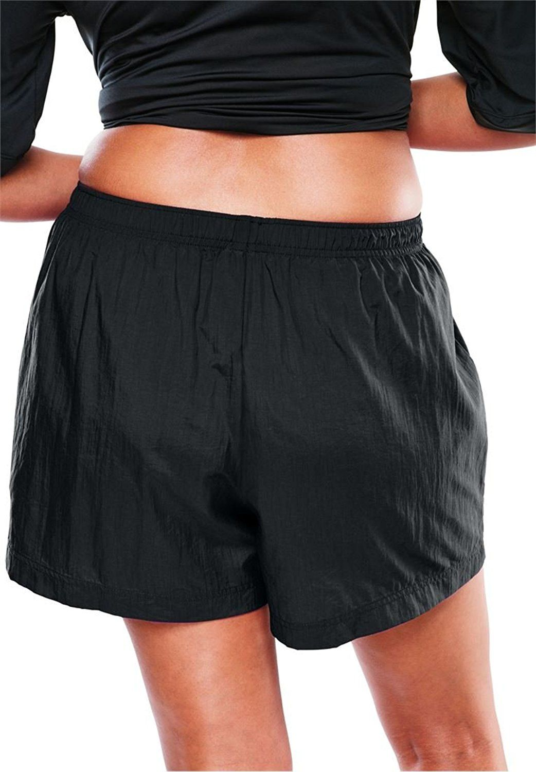 ed10963030ef0 Woman Within Women's Plus Size Taslon Shorts Black,22/24 -- See this great  product. (This is an affiliate link) #Plussizeswimwear