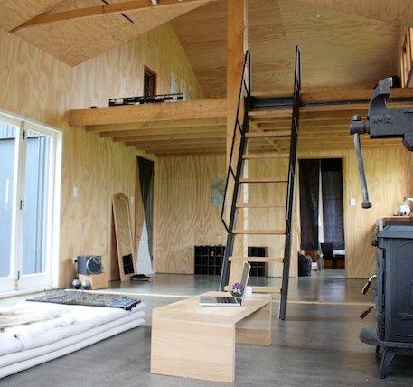 Plywood Barn Conversion Live In Artist Studio Mezzanine