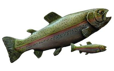 Rainbow Trout Knob and Pull featuring Hand Tinting - from Notting Hill Decorative Hardware