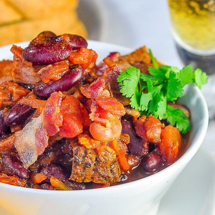 Prime Rib Beer Bacon Chili | Recipe in 2020 | Bacon chili