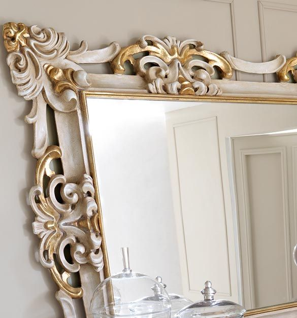 Gold framed mirrors wall grouping paris collection for Gold frame floor mirror