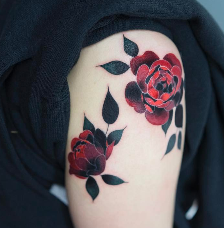 Red Rose Tattoos For Women Rose Tattoos For Women Tattoos Rose Tattoos
