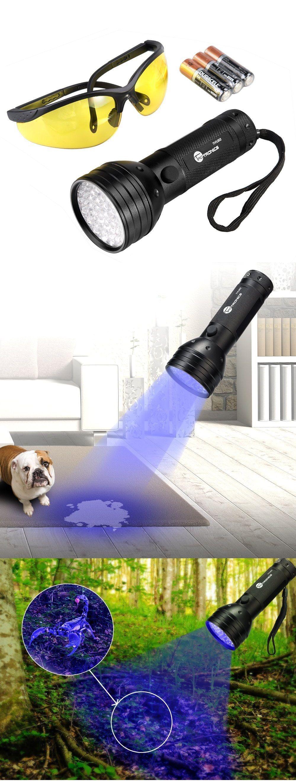 UV Flashlight Black Lights Ultravilot Urine Detector for