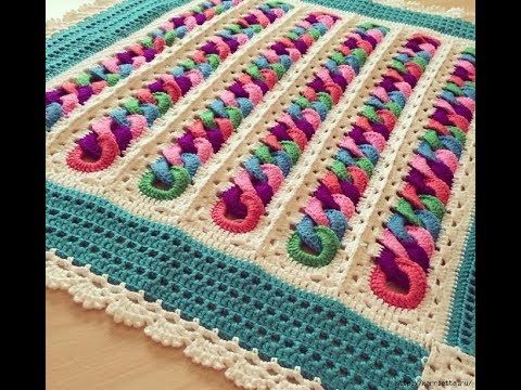 How To Crochet Circle Afghan Blanket Free Easy Pattern Tutorial For