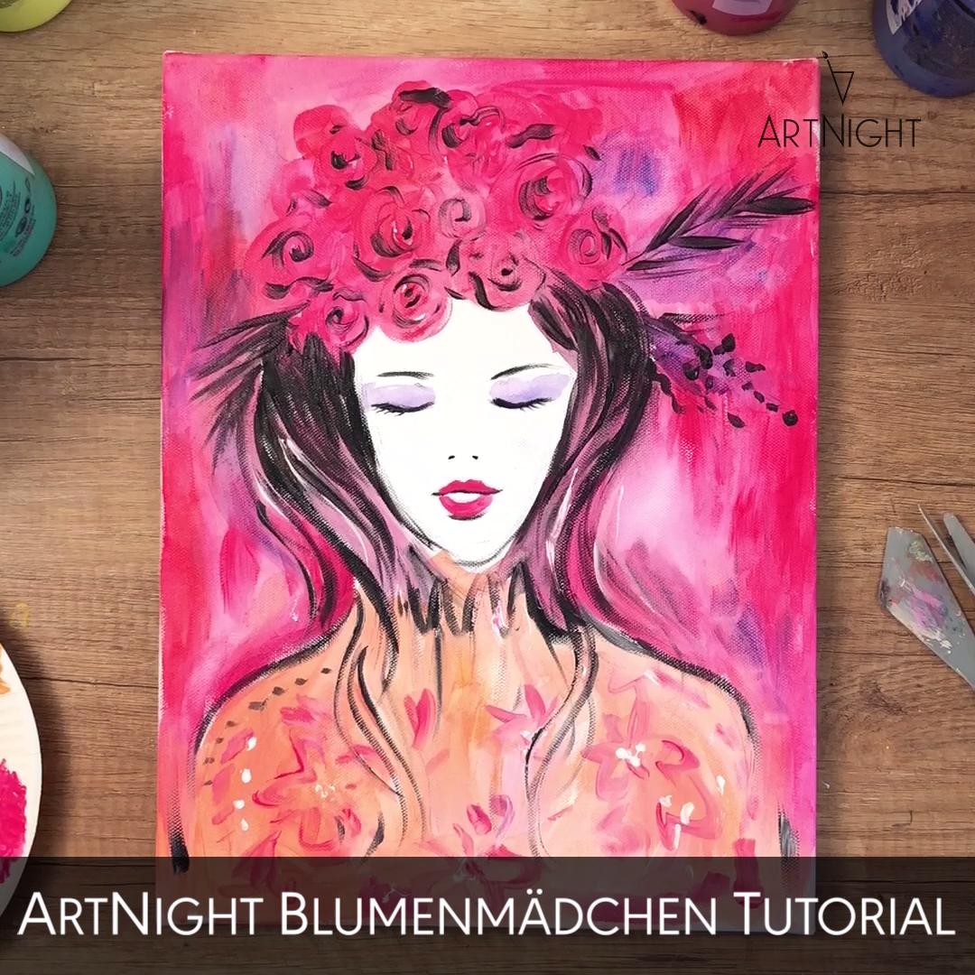Photo of Video: Mädchen malen mit Blumen