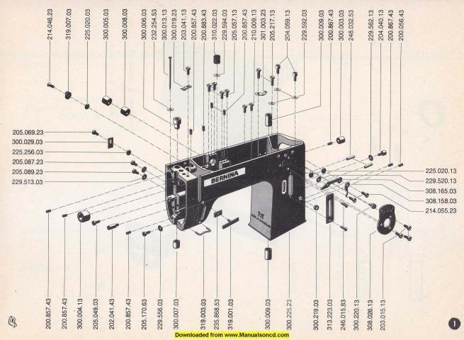 Bernina 700 Class Sewing Machine Parts Manual | Sewing Machine