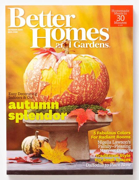 Amazing Better Homes And Garden Magazine Featuring Autumn Splendor. We Love  Designing Pumpkins In The Fall Amazing Design
