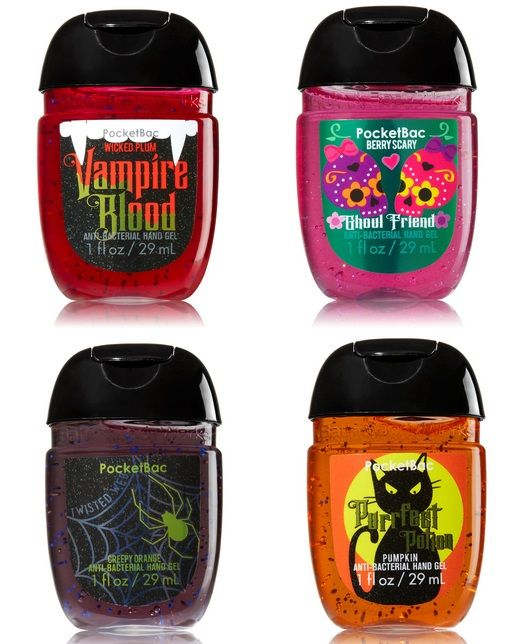 Bath Body Works Halloween 2015 Pocketbac Holders Hand Gels