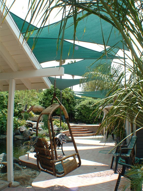 Delightful Outdoor Shade Sails For The Patio   Beautiful Alternative To An Awning