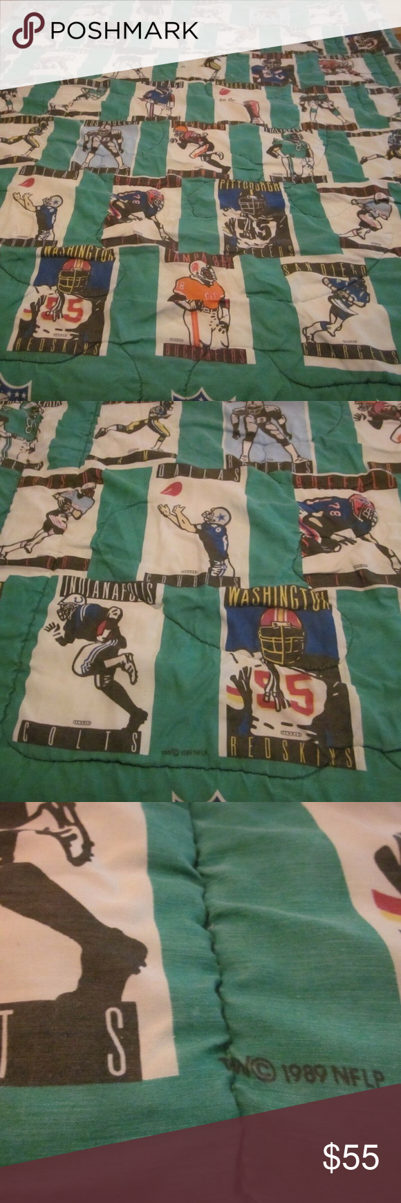 NFL Football Comforter 49ers Chiefs Packers 1989 in 2020
