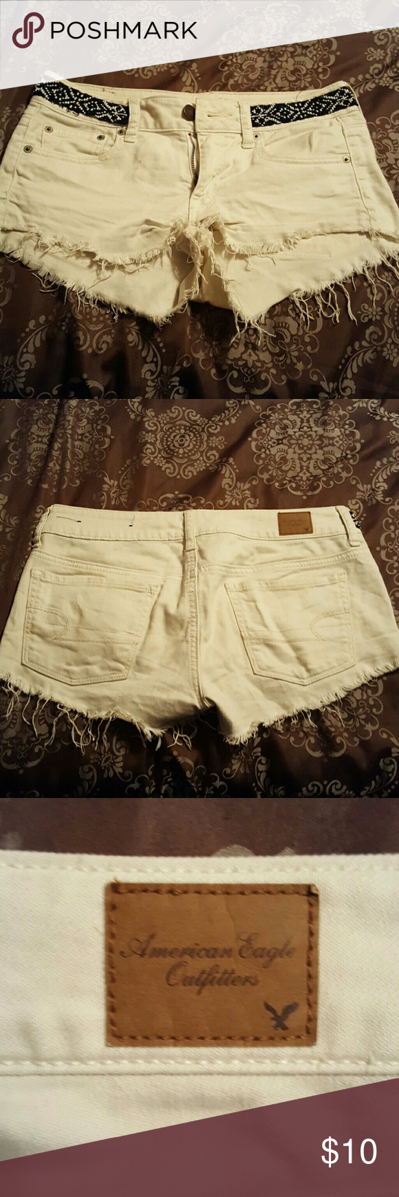 Jean shorts Off white American Eagle Outfitters Shorts Jean Shorts