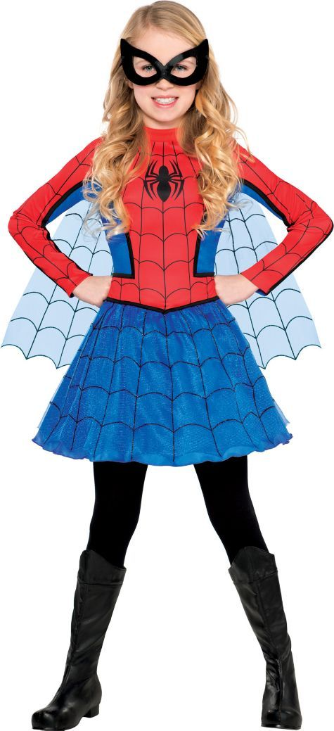 Girls Red Spider Girl Costume Party City Halloween