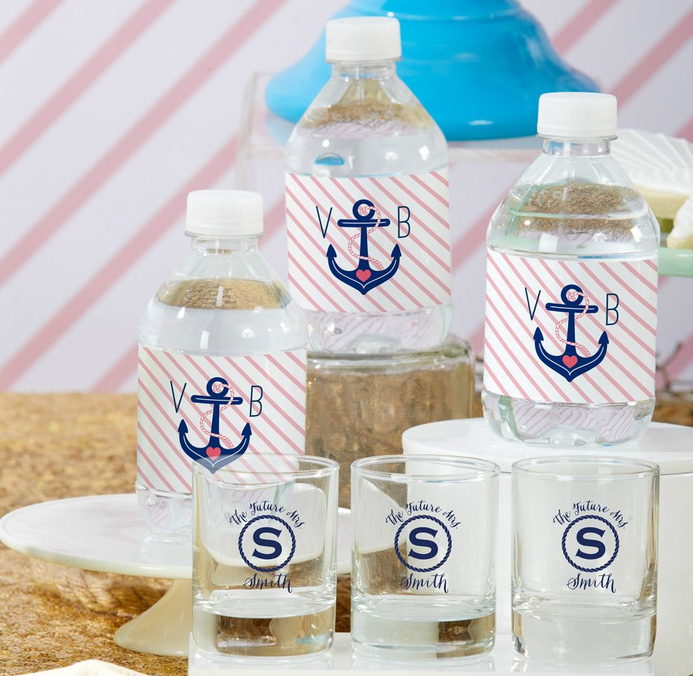 Personalized Party Favors Water Bottle Labels, Personalized Shot ...