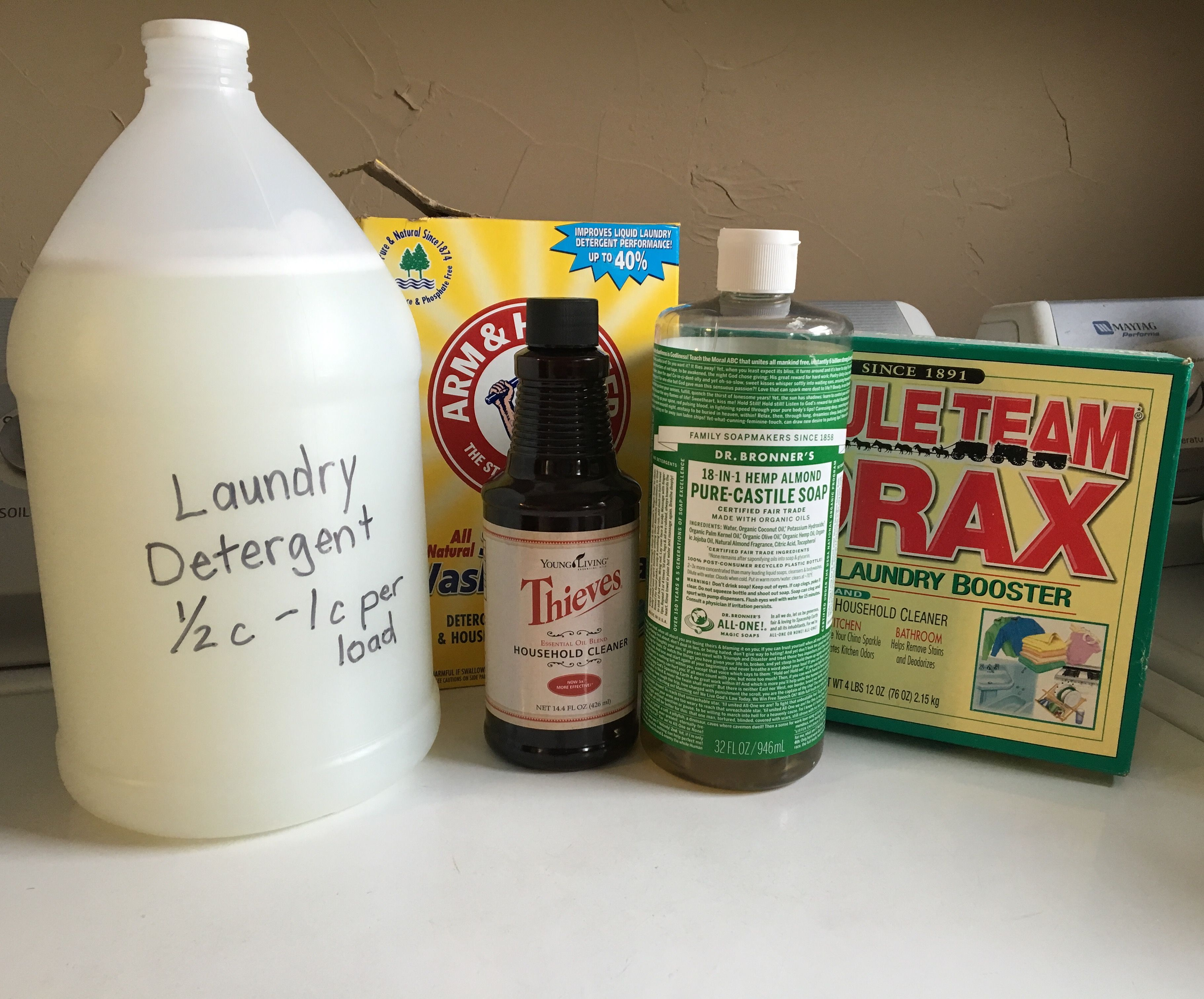 Diy Soap With Essential Oils Thieves Cleaner Homemade Laundry Detergent Household