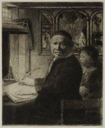 Rembrandt Etching Reproduction Lieven van Willemsz Coppenol Fine Art Print