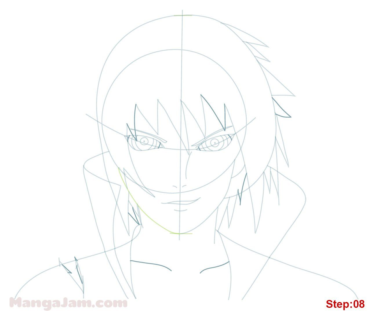 How To Draw Sasuke Rinnegan From Naruto Sasuke Drawing Sasuke