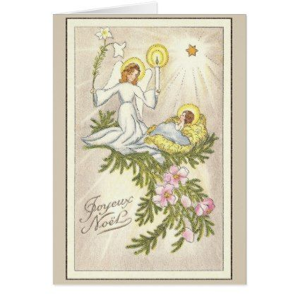 Vintage religious french christmas greeting card french christmas vintage religious french christmas greeting card m4hsunfo Images