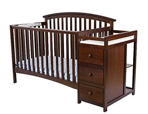 Dream On Me Niko 5-in-1 Convertible Crib with Changer, Es...