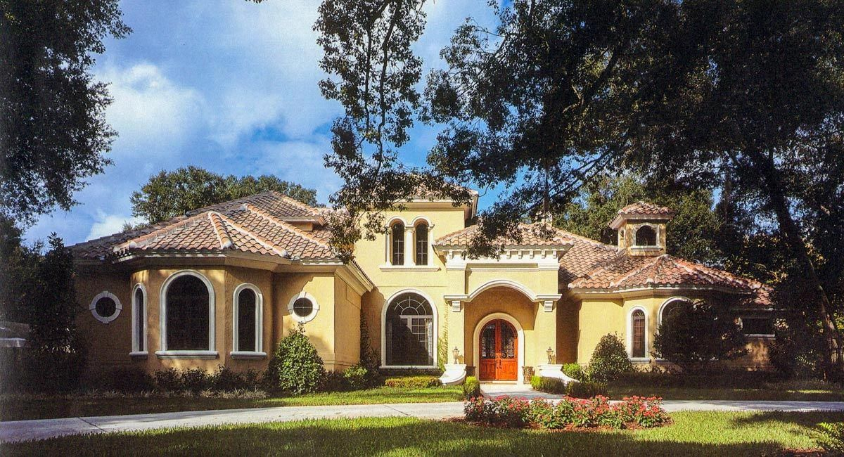 This Stunning Mediterranean Home Plan Has A Special Treat For Homeowners A Sumptuous Mediterranean House Plans Mediterranean Homes Luxury Mediterranean Homes