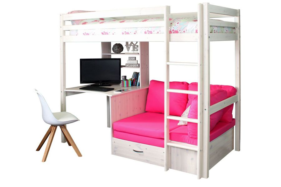 Thuka Hit 7 Highsleeper With Desk Chairbed Girls Loft Bed Bed For Girls Room Bunk Beds For Girls Room