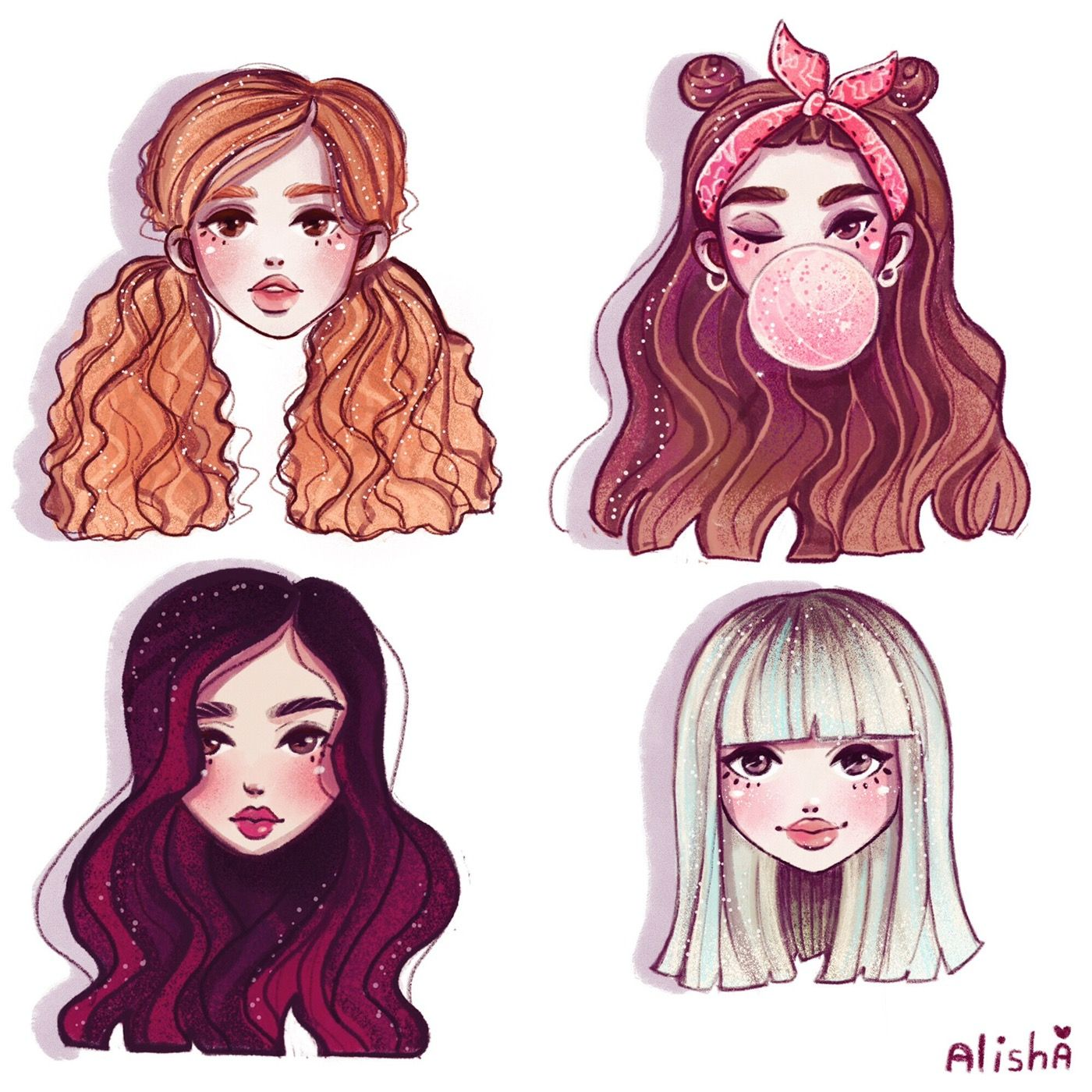 Blackpink on Behance Kpop drawings, Bff drawings, Art
