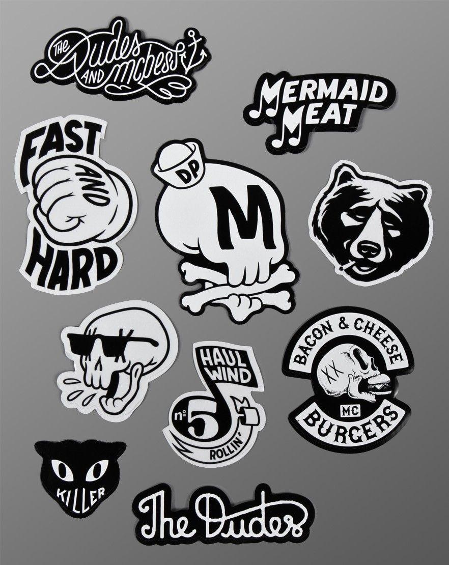 Dudes x mcbess sticker design sticker logo typography logo lettering arte geek