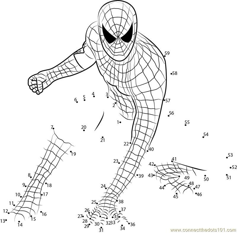 Spider Man Connect the Dots Summer