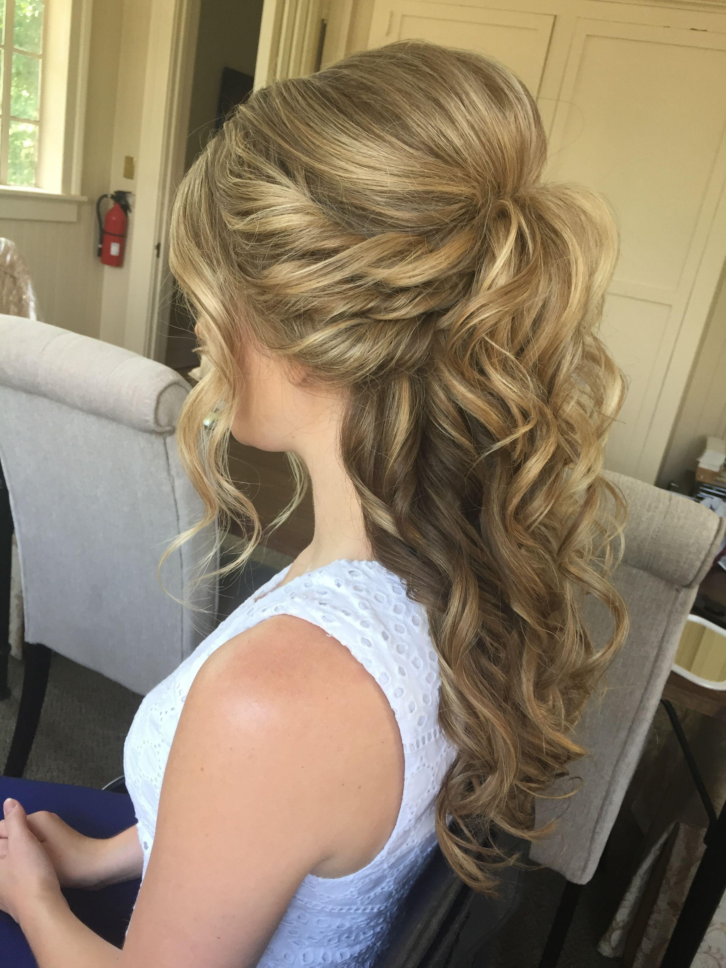 Explore Gallery Of Half Up Half Down Wedding Hairstyles For Medium Length Hair 7 Of 15 Hair Styles Medium Length Hair Styles Wedding Hair Half