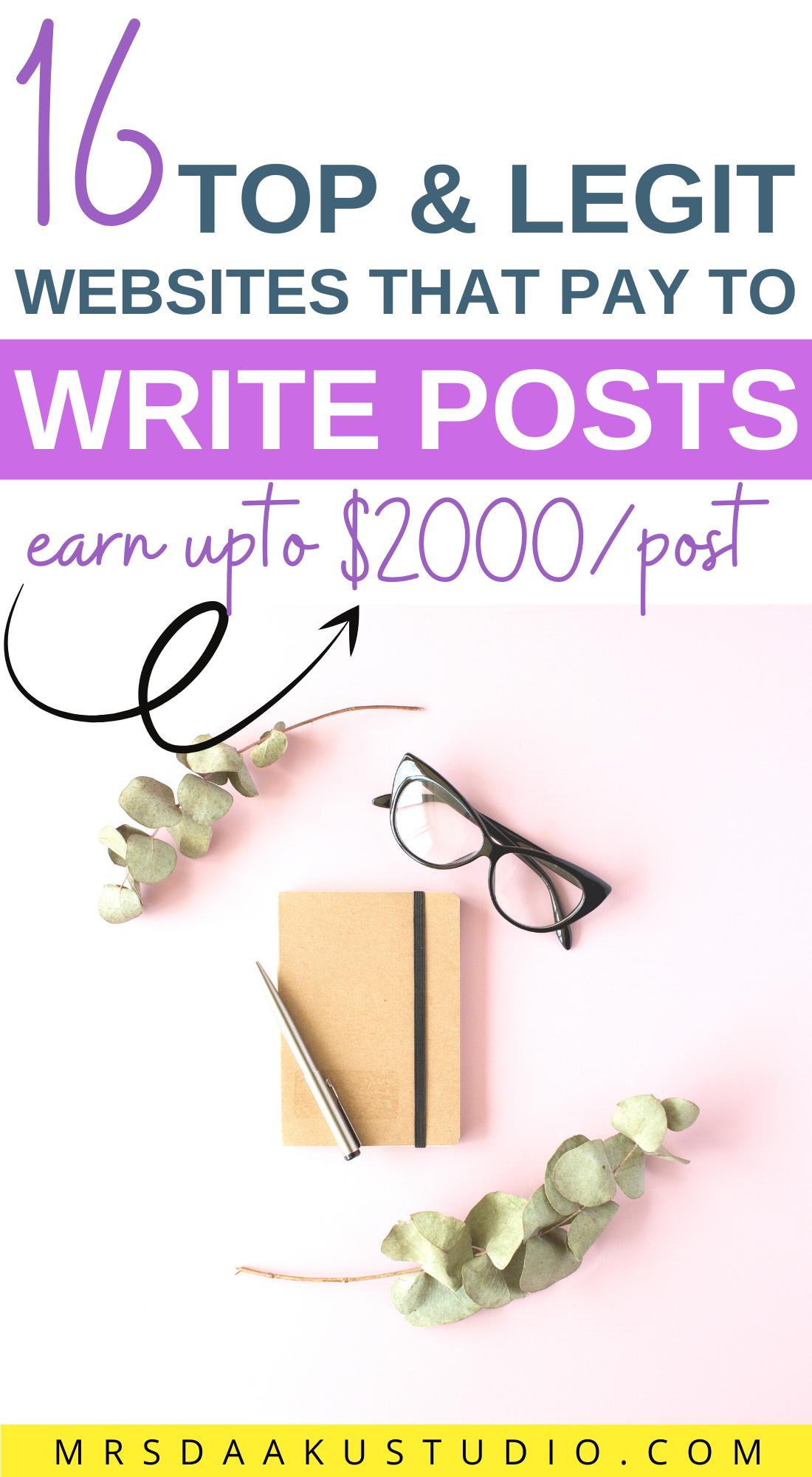 get paid to write essays online