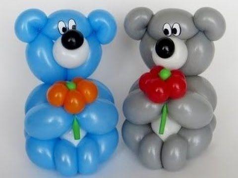Ositos de globos facil globoflexia paso a paso - Hacer munecos con globos ...