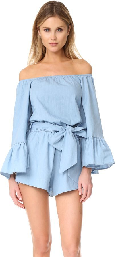 cac966936cf6 spring outfits 2017 Off Shoulder Romper