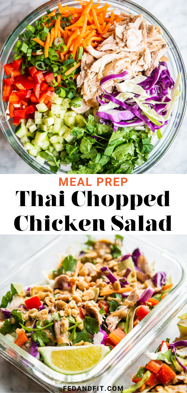 Meal Prep Thai Chicken Salad | Fed & Fit