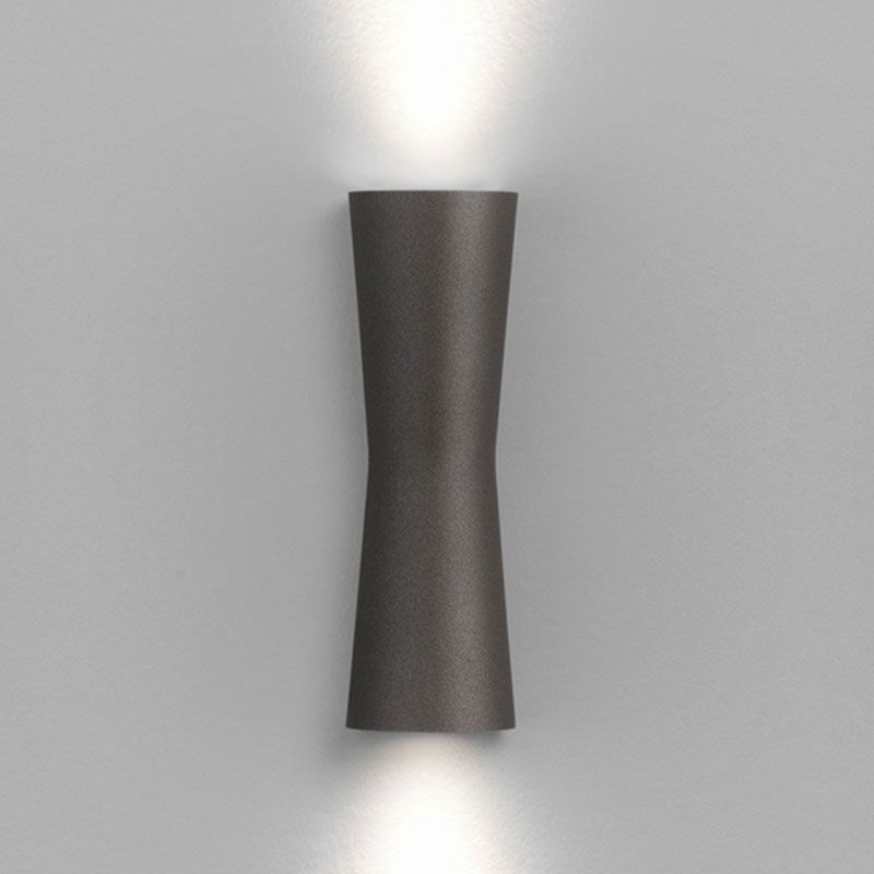 Clessidra LED Outdoor Wall Sconce Features A Bronze Or Grey Finish Available With 40 Degree