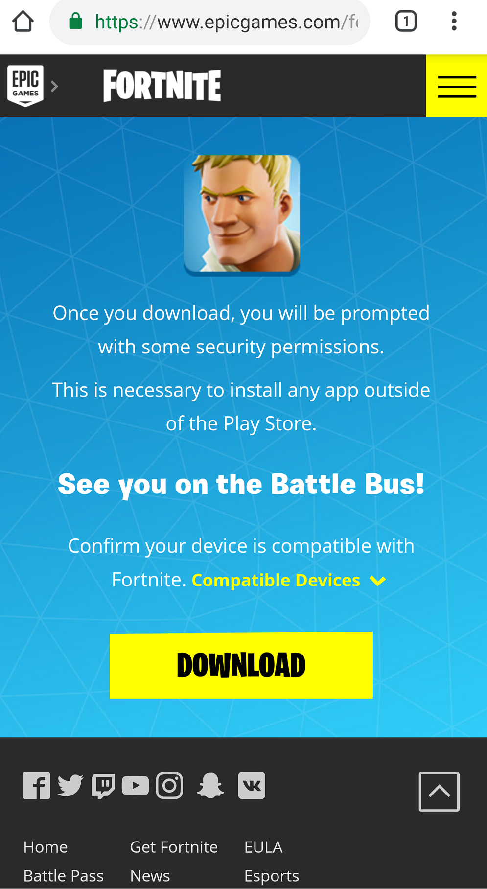 How to install and play Fortnite on Android device