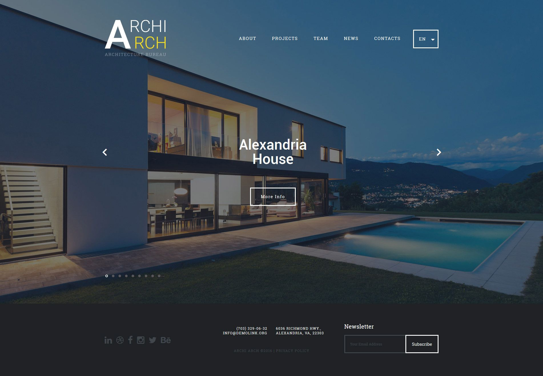 Architecture And Construction Website Template Http Www Templatemonster