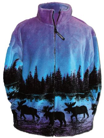 Twilight Moose Adult Fleece Jacket | hurr, clothes, makeup ...