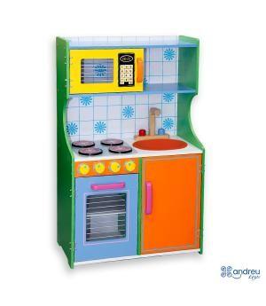 Cocinas Infantiles De Madera | Cocina Infantil De Juguete De Madera Modelo Multi Color Atoys16061