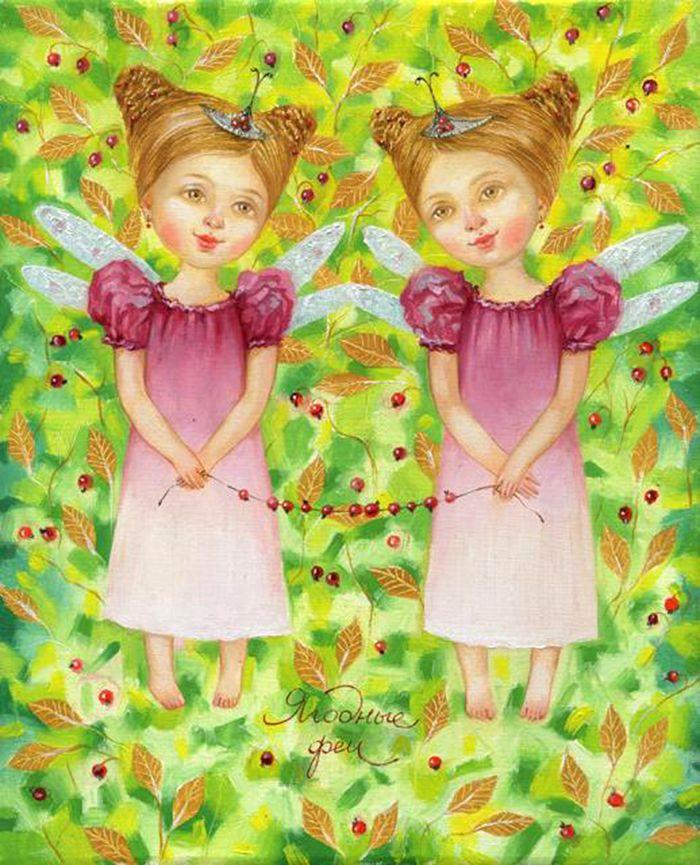 Открытки, открытки девочки двойняшки