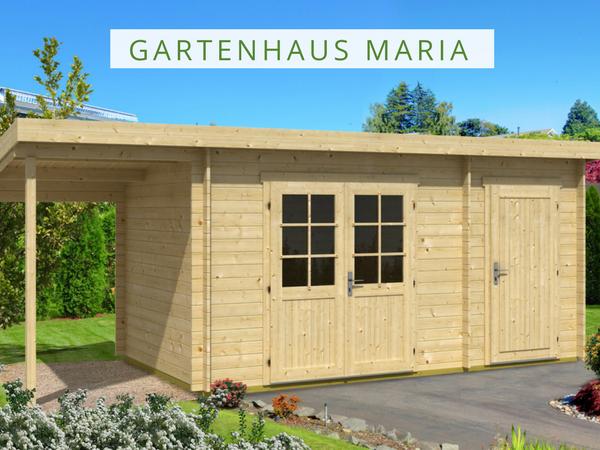 Pultdach Gartenhaus Maria mit Anbau & Schleppdach in 2020