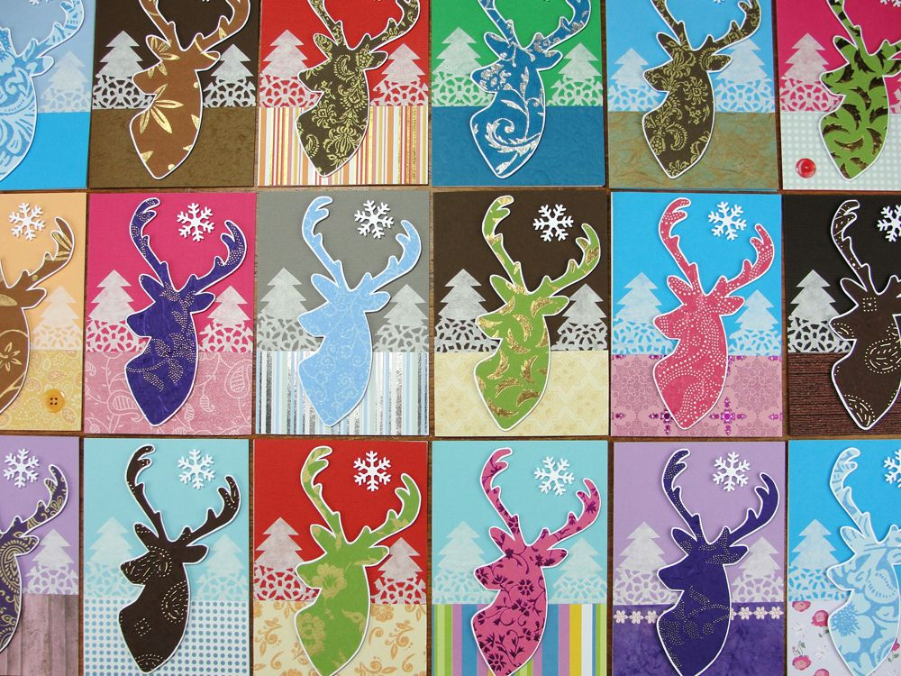 https://flic.kr/p/ib4aLW | Reindeer Holiday Cards 2013 | * Handmade Holiday…