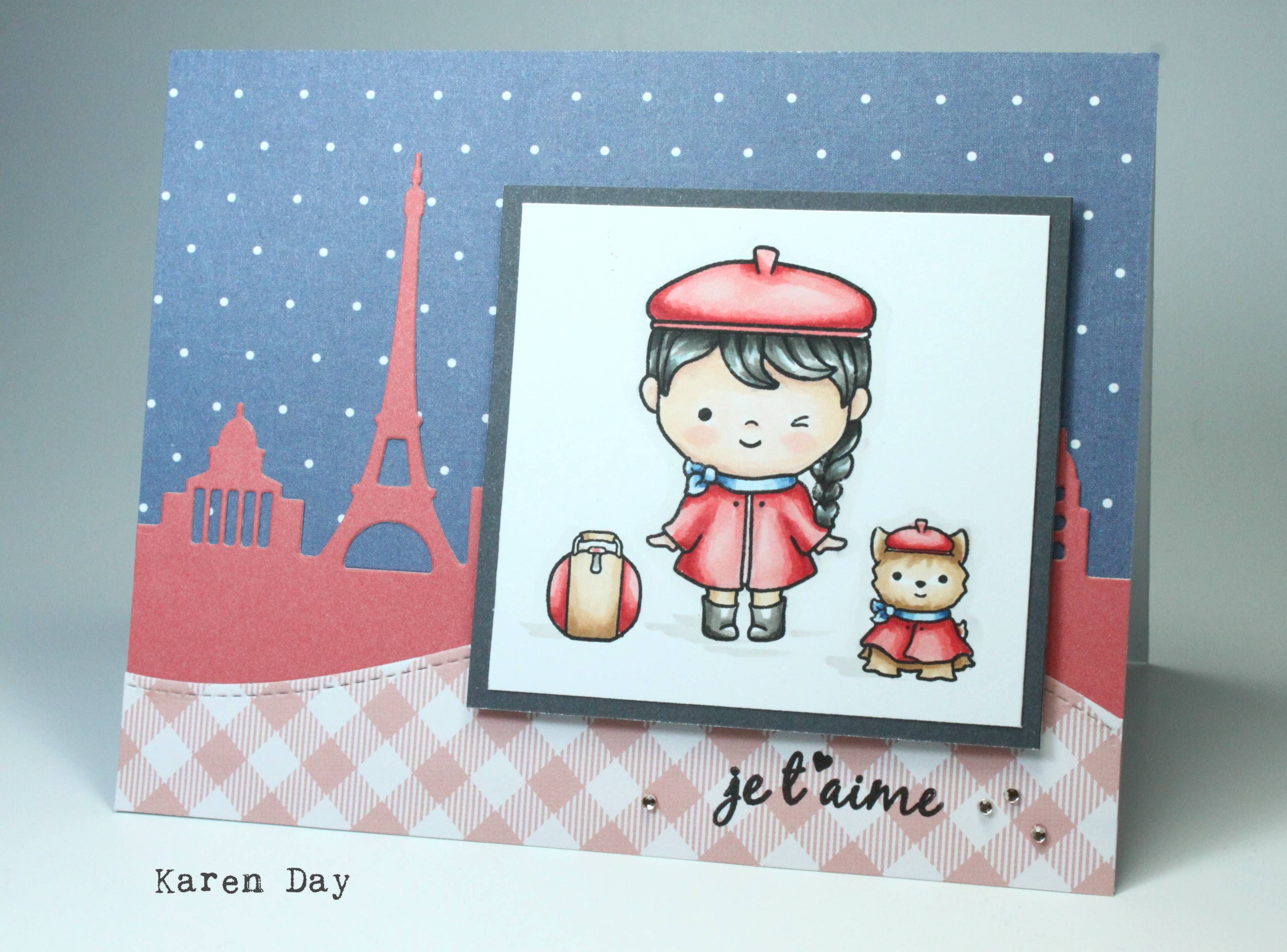 Karen Day Using Parisian Holiday From Sweet Pea Designs
