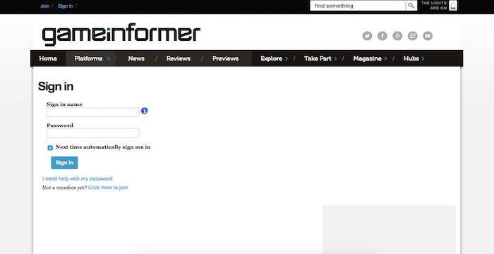 Game Informer Sign In Gameinformer Com Magazine Game Informer Signs Video Game Magazines