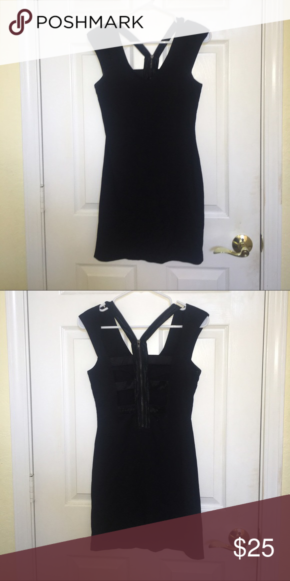 Little Black Dress with Cut-Out Back In perfect condition! Perfect for a night out! Greylin Dresses Mini
