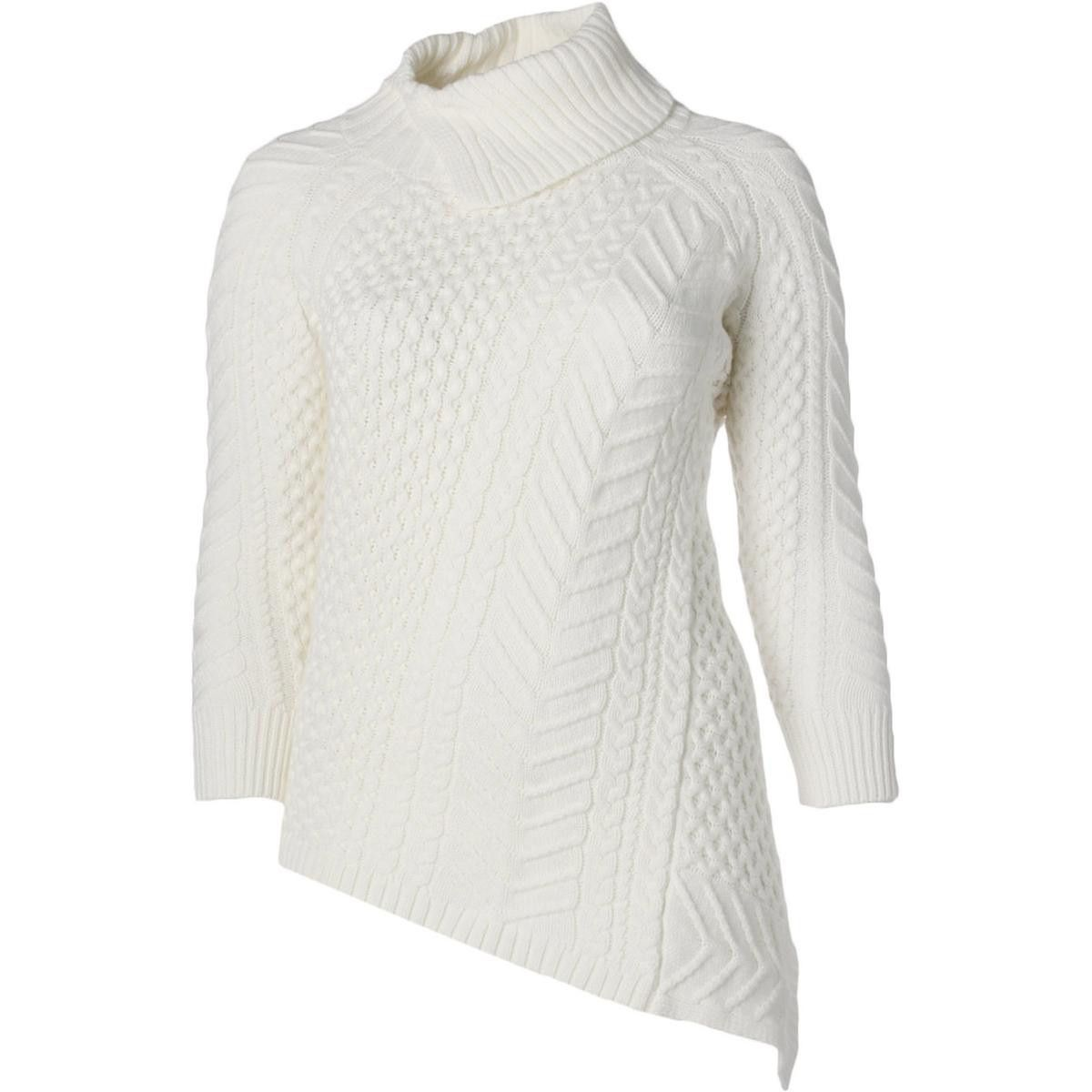 Vince Camuto Womens Plus Cable Knit Asymmetric Sweater | Products ...