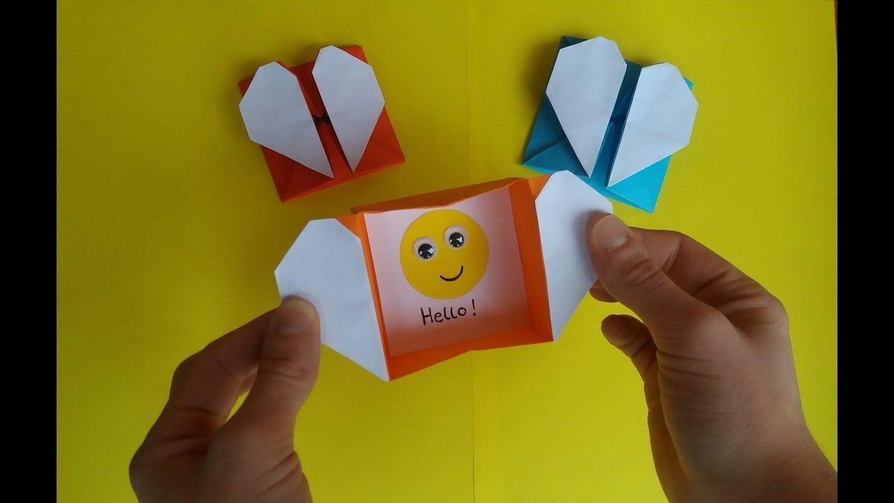 How to make origami heart box envelope pakovanje poklona how to make origami heart box envelope jeuxipadfo Choice Image