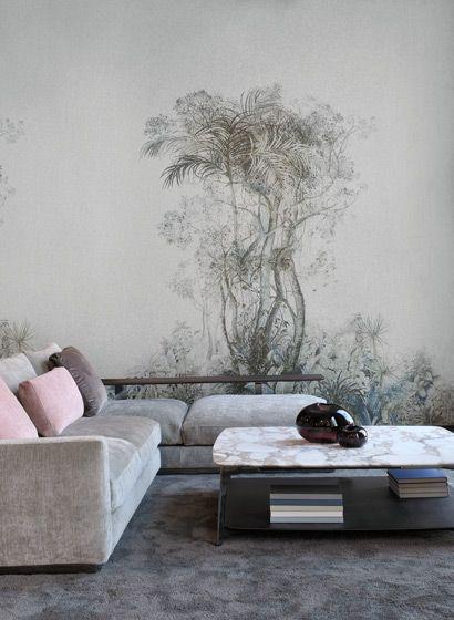 Einsamer Baum Wandbild Tropic Von ARTE #tapete #wohnzimmer #französisch  #design