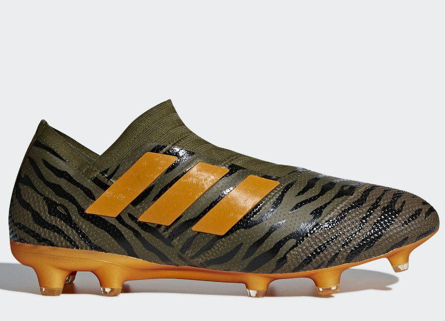 adidas Performance NEMEZIZ 17.1 FG - Botas de fútbol con tacos trace olive/bright orange/core black GCpam
