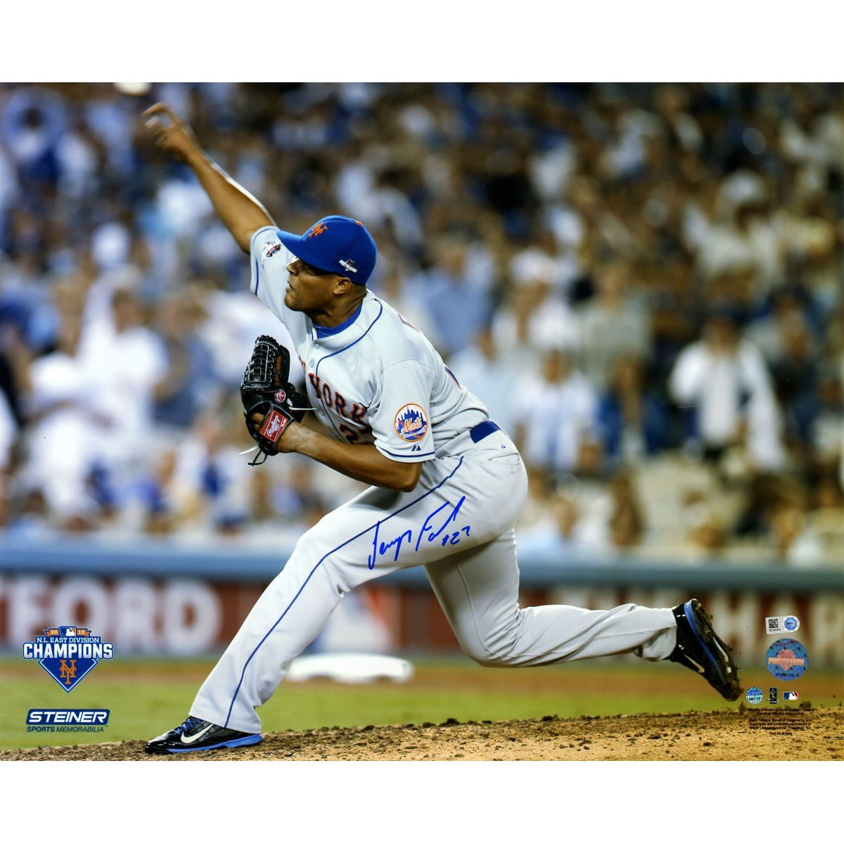 Steiner Jeurys Familia Signed Th Inning  Nlds Game  Pitching