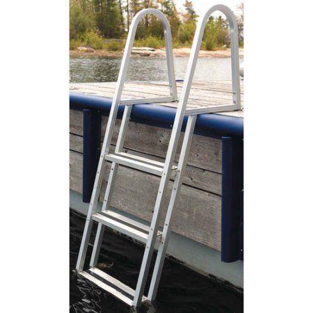 3 Steps Aluminum Dock Edge Stand Off Dock Ladder