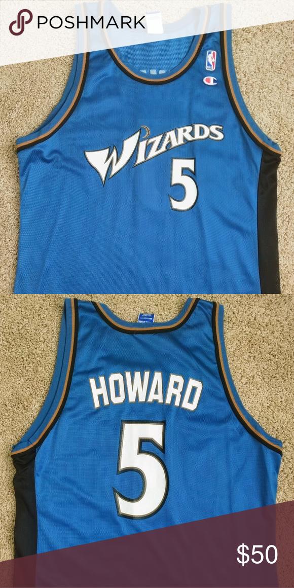 buy popular f1c34 114f9 Champion Juwan Howard Washington Wizards Jersey This is a ...